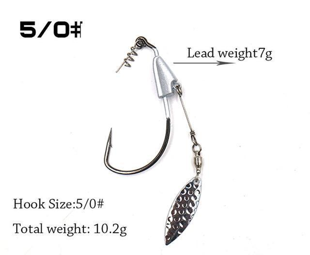2Pcs/Package Barbed Fishhook Crank Hook 3/0# 4/0# 5/0# With Lead Single Hook-MC&LURE Store-5-Bargain Bait Box