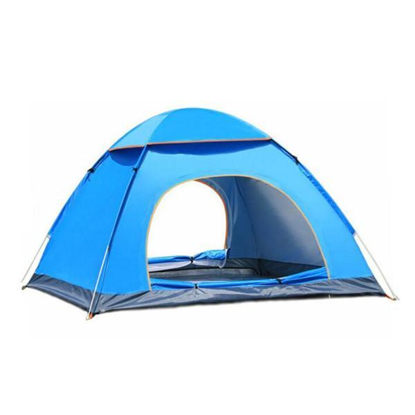 3-4 Person Outdoor Camping Tent For Hiking Trekking Backpacking Fishing-YunChengXiang Outdoor Store-Blue-Bargain Bait Box
