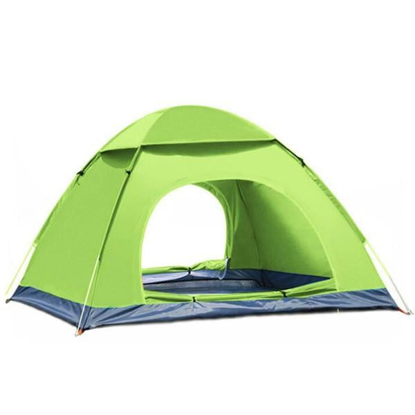 3-4 Person Outdoor Camping Tent For Hiking Trekking Backpacking Fishing-YunChengXiang Outdoor Store-Green-Bargain Bait Box