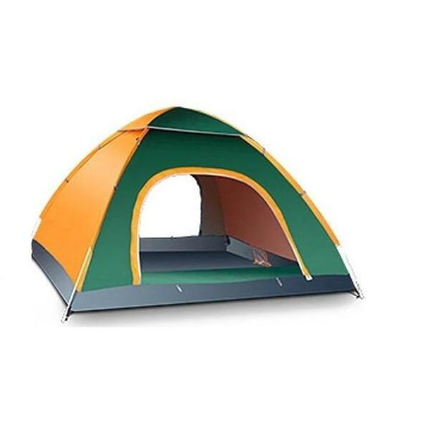 3-4 Person Outdoor Camping Tent For Hiking Trekking Backpacking Fishing-YunChengXiang Outdoor Store-Orange-Bargain Bait Box