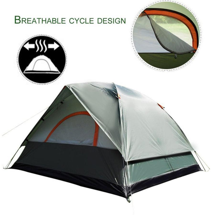 3-4 Person Windproof Camping Tent Waterproof Oxford Cloth Dual Layers Outdoor-LynnLynn Fitness Store-Bargain Bait Box