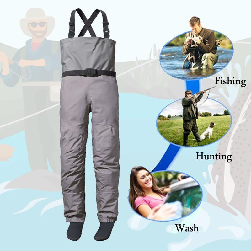 3 Ply Men'S Women Breathable Fishing Stockingfoot Chest Wader River Waterproof-Fishing Clothings-Pro-Waterproof Factory Store-XS-Bargain Bait Box