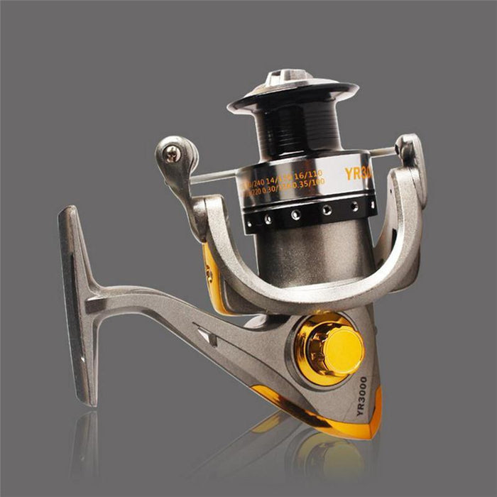 3000-6000 Metal Head Fishing Wheel 12 Bearing 5.2:1 Baitcasting Reel Sea Pole-Spinning Reels-Dynamic Outdoor Store-3000 Series-Bargain Bait Box