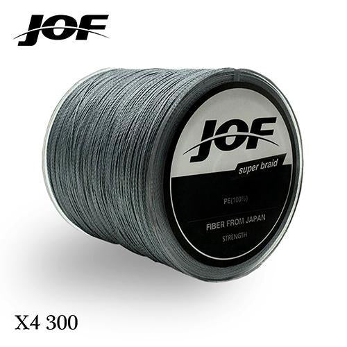 300M Multifilament Fishing Line 100% Pe Braided 4 Threads Fly Fishing Line For-HUDA Outdoor Equipment Store-Grey-1.0-Bargain Bait Box