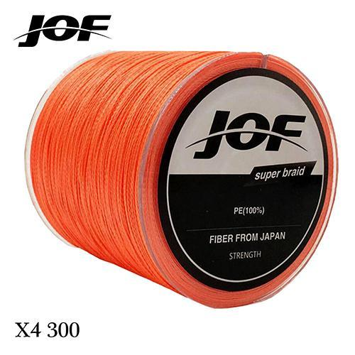300M Multifilament Fishing Line 100% Pe Braided 4 Threads Fly Fishing Line For-HUDA Outdoor Equipment Store-Orange-1.0-Bargain Bait Box