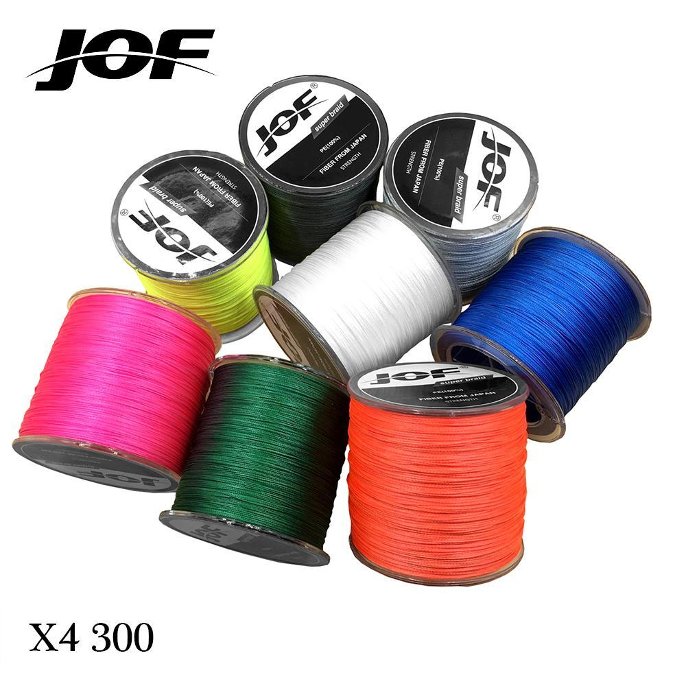 300M Multifilament Fishing Line 100% Pe Braided 4 Threads Fly Fishing Line For-HUDA Outdoor Equipment Store-White-1.0-Bargain Bait Box