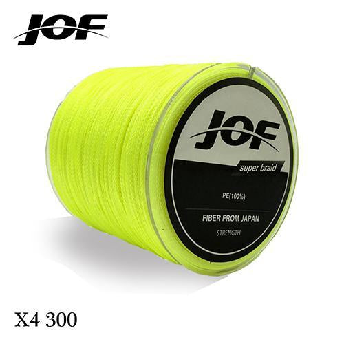 300M Multifilament Fishing Line 100% Pe Braided 4 Threads Fly Fishing Line For-HUDA Outdoor Equipment Store-Yellow-1.0-Bargain Bait Box