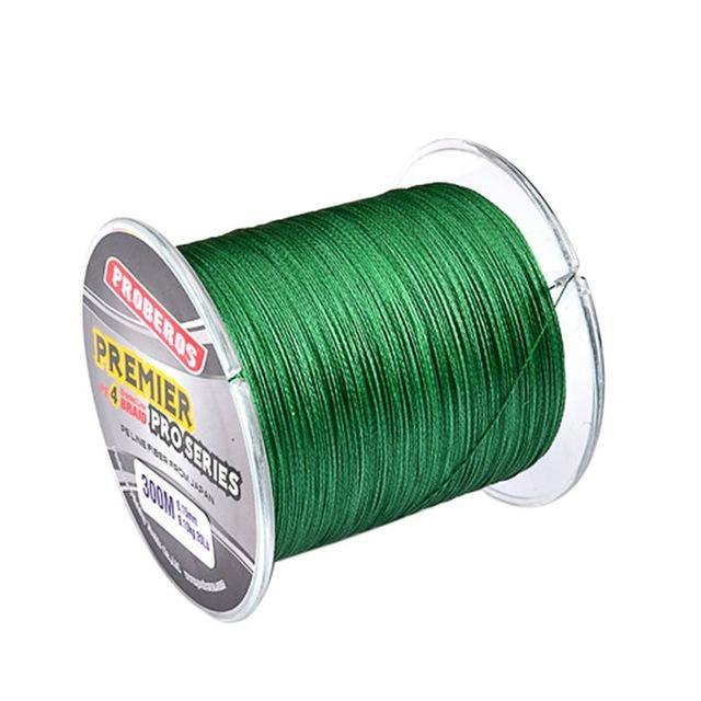 300M Pe Multifilament Braided Fishing Line 5 Colors Super Strong Fishing Line-Yue Che Store-Green-1.0-Bargain Bait Box