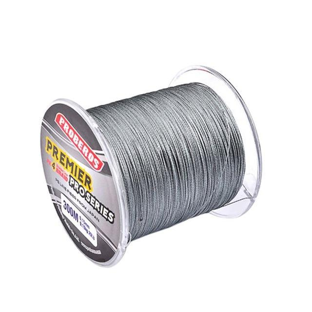 300M Pe Multifilament Braided Fishing Line 5 Colors Super Strong Fishing Line-Yue Che Store-Light Grey-1.0-Bargain Bait Box
