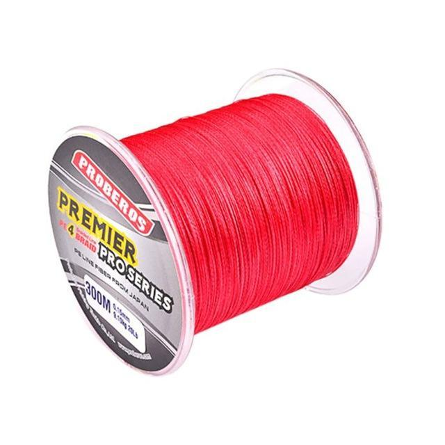 300M Pe Multifilament Braided Fishing Line 5 Colors Super Strong Fishing Line-Yue Che Store-Red-1.0-Bargain Bait Box