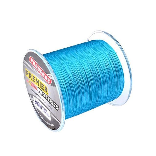 300M Pe Multifilament Braided Fishing Line 5 Colors Super Strong Fishing Line-Yue Che Store-Sky Blue-1.0-Bargain Bait Box