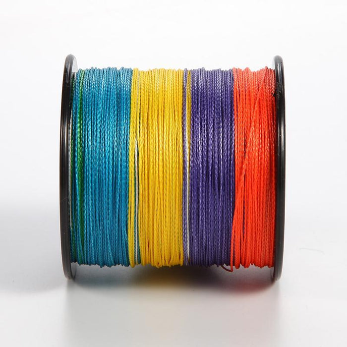 300M Super Pe Multifilament Line Fishing Braided Wires 4 Strands Spectra Rainbow-ASCON FISH Official Store-0.4-Bargain Bait Box