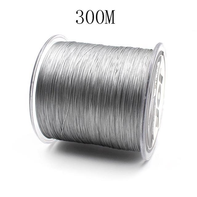 300M/500M 4 Strands Pe Braided Fishing Line Super Strong Japan Multifilament-Enjoying Your Life Store-gray 300M-0.6-Bargain Bait Box