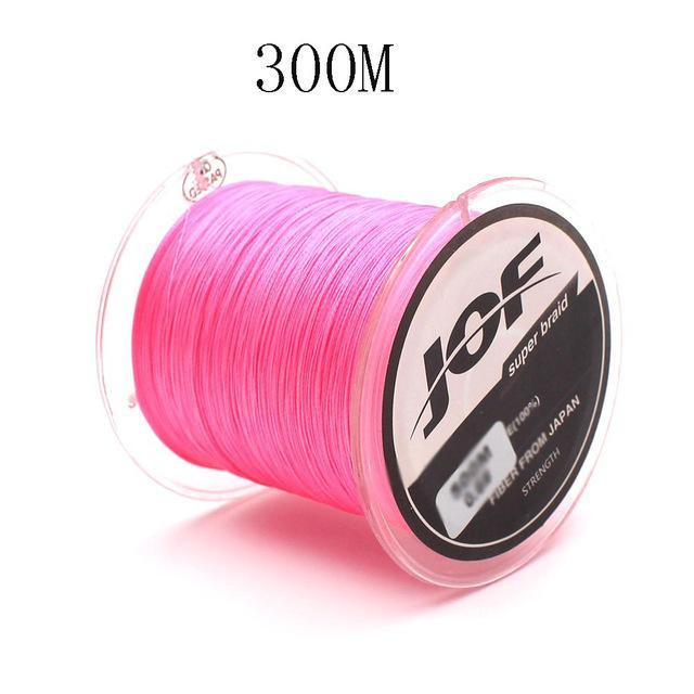 300M/500M 4 Strands Pe Braided Fishing Line Super Strong Japan Multifilament-Enjoying Your Life Store-pink 300M-0.6-Bargain Bait Box
