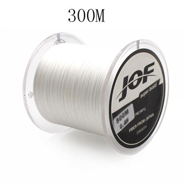 300M/500M 4 Strands Pe Braided Fishing Line Super Strong Japan Multifilament-Enjoying Your Life Store-white 300M-0.6-Bargain Bait Box