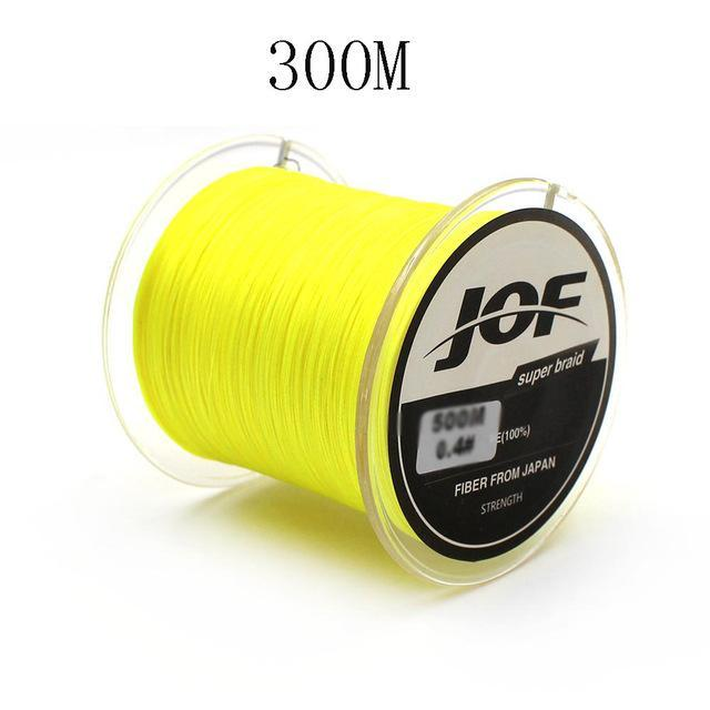 300M/500M 4 Strands Pe Braided Fishing Line Super Strong Japan Multifilament-Enjoying Your Life Store-yellow 300M-0.6-Bargain Bait Box