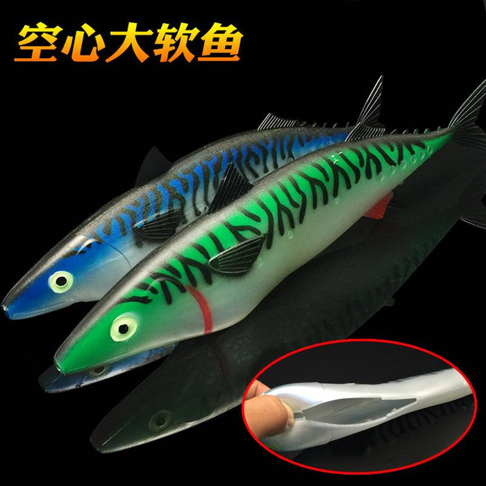 30Cm 35Cm Hollow Big Soft Fishing Bait Jerkbait Dur Big Bait Sear-Unrigged Plastic Swimbaits-Bargain Bait Box-30cm63g Green-Bargain Bait Box