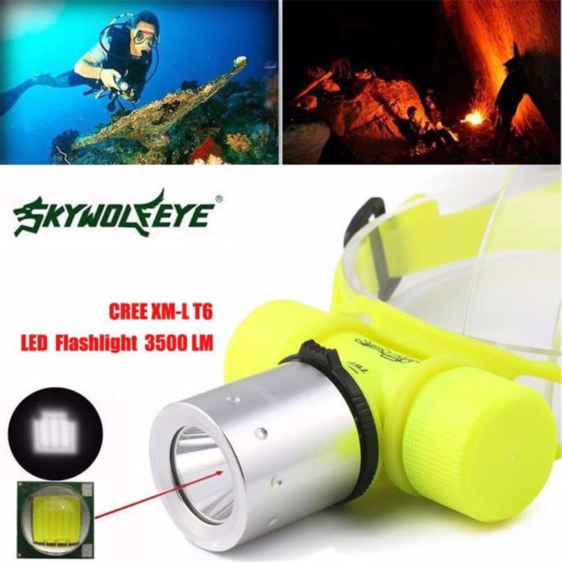3500Lm Cree T6 Underwater Diving Head Light Lamp Waterproof Led Flashlight Torch-Underwater Lights-Bargain Bait Box-Bargain Bait Box