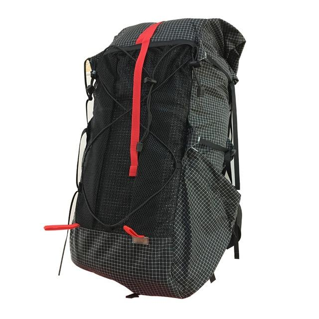 35L 45L Lightweight Durable Travel Camping Hiking Backpack Outdoor Ultralight-Climbing Bags-AliExpress UL Gear Outdoor Store-UHMWPE Black M-Bargain Bait Box