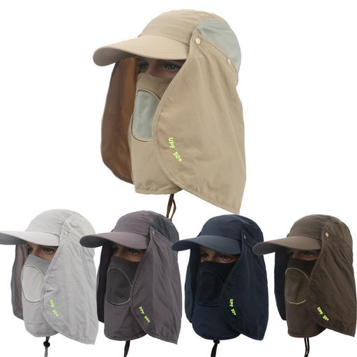 2b5d22ea043e7 360 Degree Sunscreen Men And Women Fishing Cap With Face Shield  Mosquito-Hats-Bargain