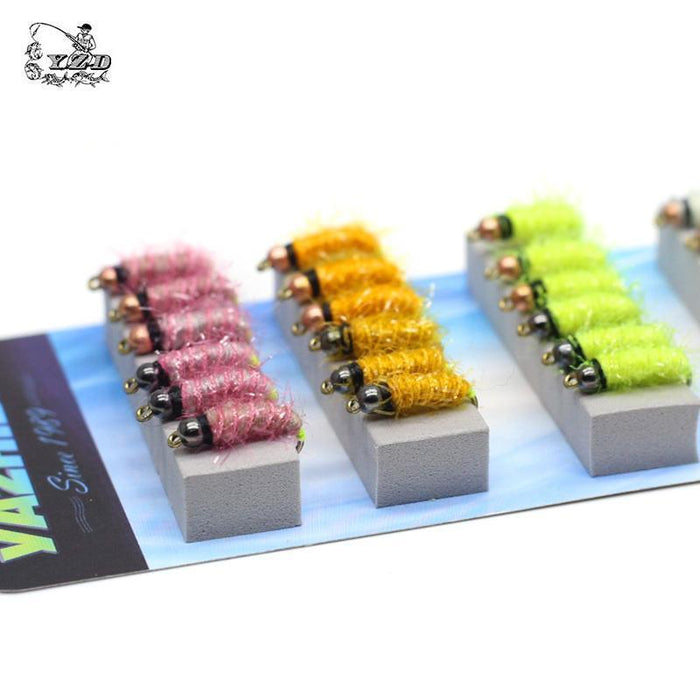 36Pcs Nymph Fly Fishing Flies Set Fly Tying Kit Lure For Coregonus Perch Trout-Yazhida fishing tackle-A-Bargain Bait Box