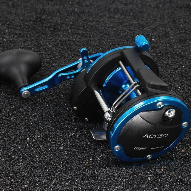 3Bb+1Rb 5.1:1 6.2:1 Plastic Body Fishing Drum Reel Aluminum Wire Cup Bait-Baitcasting Reels-duo dian Store-Black with Blue-2000 Series-Bargain Bait Box