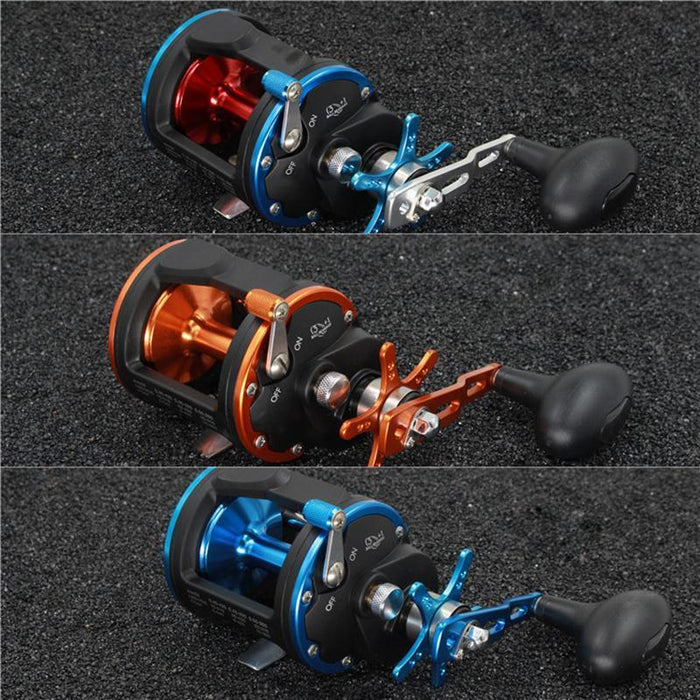 3Bb+1Rb 5.1:1 6.2:1 Plastic Body Fishing Drum Reel Aluminum Wire Cup Bait-Baitcasting Reels-duo dian Store-Black with Orange-2000 Series-Bargain Bait Box