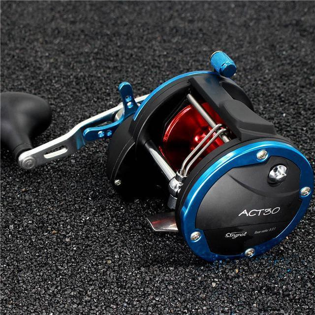3Bb+1Rb 5.1:1 6.2:1 Plastic Body Fishing Drum Reel Aluminum Wire Cup Bait-Baitcasting Reels-duo dian Store-Blue with Red-2000 Series-Bargain Bait Box