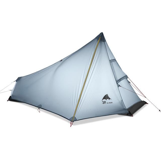 3F Ultra - Light Only 15D Coated Silicon Cangqiong 1 Outdoor Camping Tent With-Tents-Enjoy Nature-grey-Bargain Bait Box