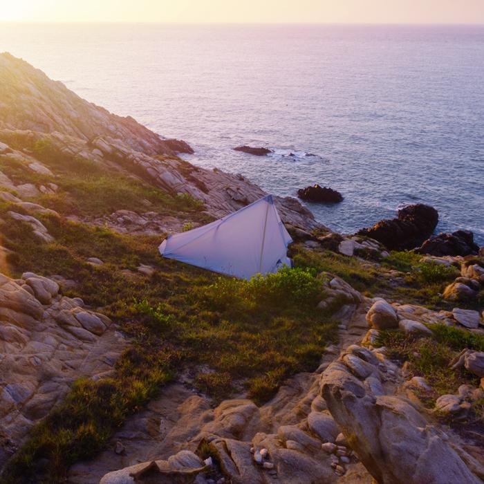3F Ultra - Light Only 15D Coated Silicon Cangqiong 1 Outdoor Camping Tent With-Tents-Enjoy Nature-orange-Bargain Bait Box