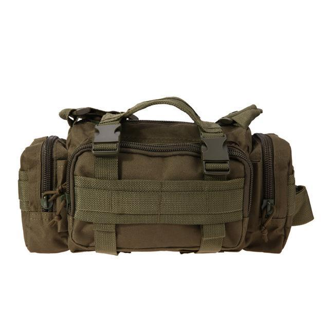 3L/6L Military Tactical Waist Pack Waterproof Oxford Molle Camping Pouch-Bags-Bargain Bait Box-Army Green 6L-Bargain Bait Box