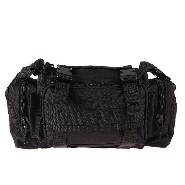 3L/6L Military Tactical Waist Pack Waterproof Oxford Molle Camping Pouch-Bags-Bargain Bait Box-Black 6L-Bargain Bait Box