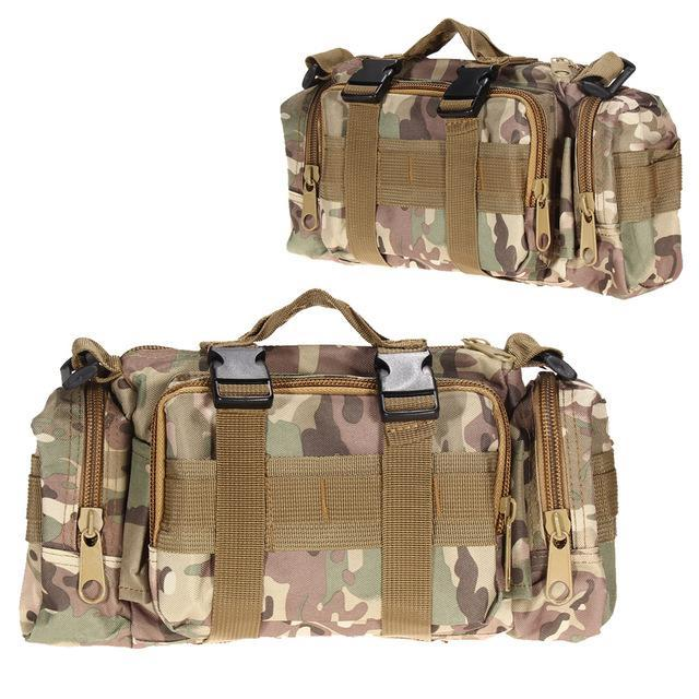 3L/6L Military Tactical Waist Pack Waterproof Oxford Molle Camping Pouch-Bags-Bargain Bait Box-CP 3L-Bargain Bait Box