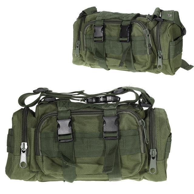 3L/6L Military Tactical Waist Pack Waterproof Oxford Molle Camping Pouch-Bags-Bargain Bait Box-Green 3L-Bargain Bait Box