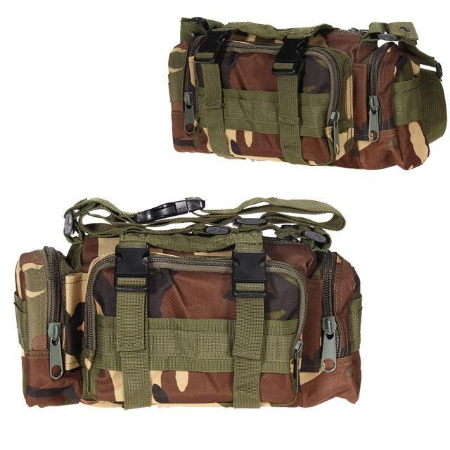 3L/6L Military Tactical Waist Pack Waterproof Oxford Molle Camping Pouch-Bags-Bargain Bait Box-Jungle Camo 3L-Bargain Bait Box