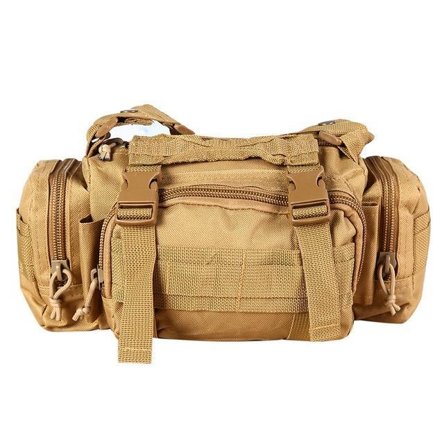 3L/6L Military Tactical Waist Pack Waterproof Oxford Molle Camping Pouch-Bags-Bargain Bait Box-Khaki-Bargain Bait Box