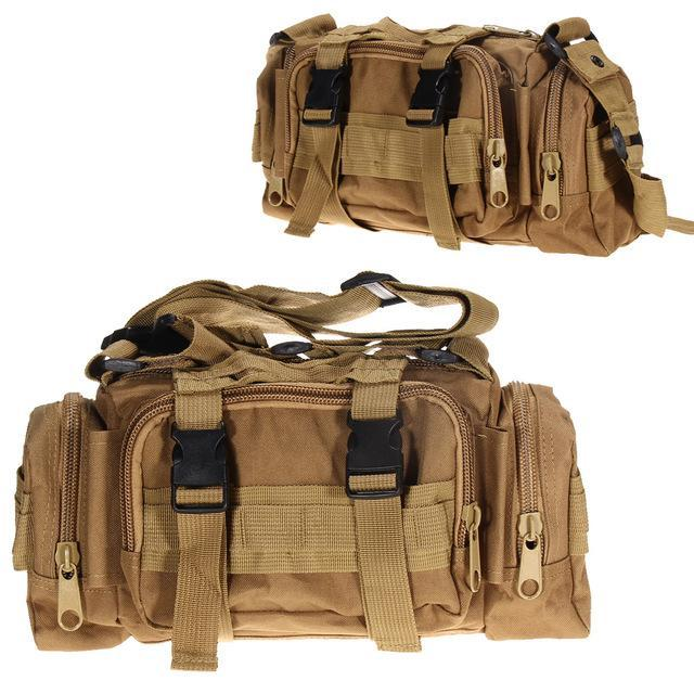 3L/6L Military Tactical Waist Pack Waterproof Oxford Molle Camping Pouch-Bags-Bargain Bait Box-Khaki 3L-Bargain Bait Box