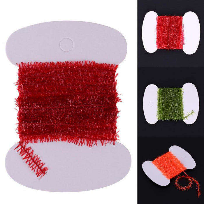 3M/Card Tinsel Chenille Flash Line Rig Bait Fly Tying Material Fur Strip For-Dreamland 123-Red-Bargain Bait Box