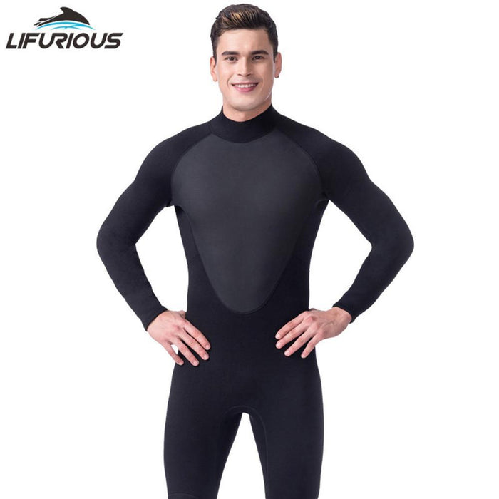 3Mm Cool Black Diving Triathlon Neoprene Wetsuit For Swimming Surf Men Scuba-Spearfishing-Bargain Bait Box-Black-S-Bargain Bait Box