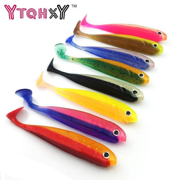 3Pcs/Lot 100Mm/7.66G Vivid Soft Lures Iscas Artificiais Para Pesca Swimbait-YTQHXY Fishing (china) Store-A-Bargain Bait Box