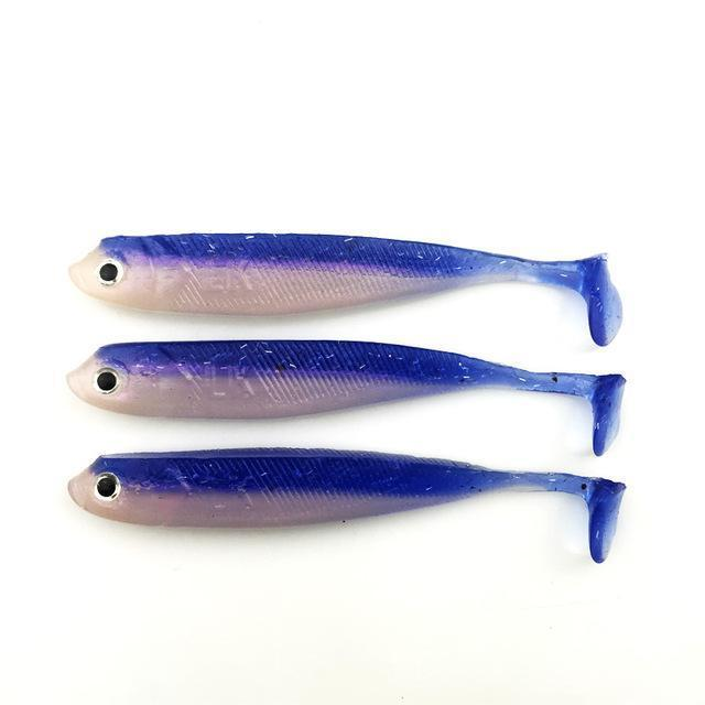 3Pcs/Lot 100Mm/7.66G Vivid Soft Lures Iscas Artificiais Para Pesca Swimbait-YTQHXY Fishing (china) Store-D-Bargain Bait Box