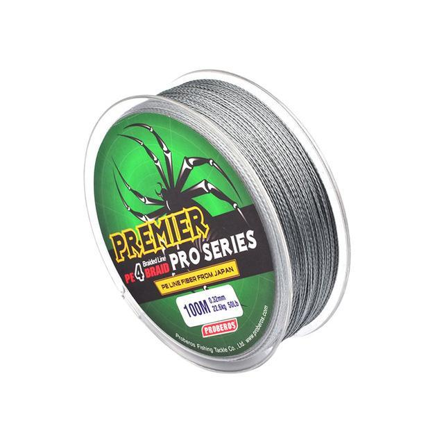 4 Color 100M Fishing Braided Multifilament Fishing Line Available 6Lb-100Lb Pe-Entertainment and movement Shop Store-Light Grey-0.8-Bargain Bait Box