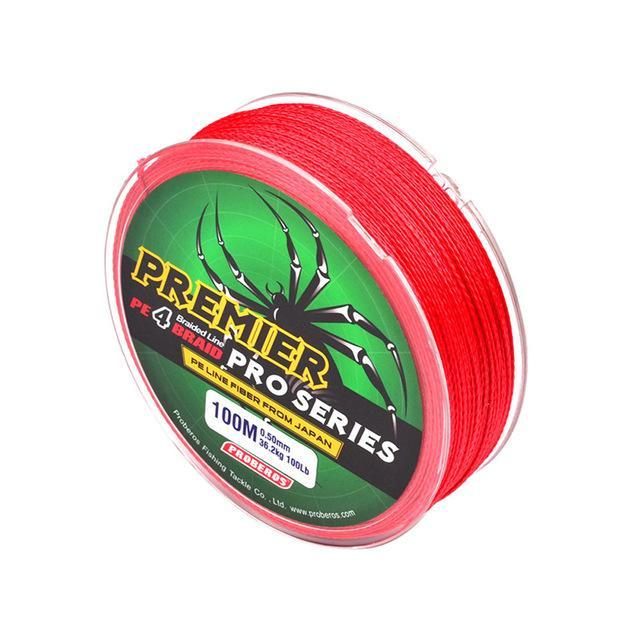 4 Color 100M Fishing Braided Multifilament Fishing Line Available 6Lb-100Lb Pe-Entertainment and movement Shop Store-Red-0.8-Bargain Bait Box