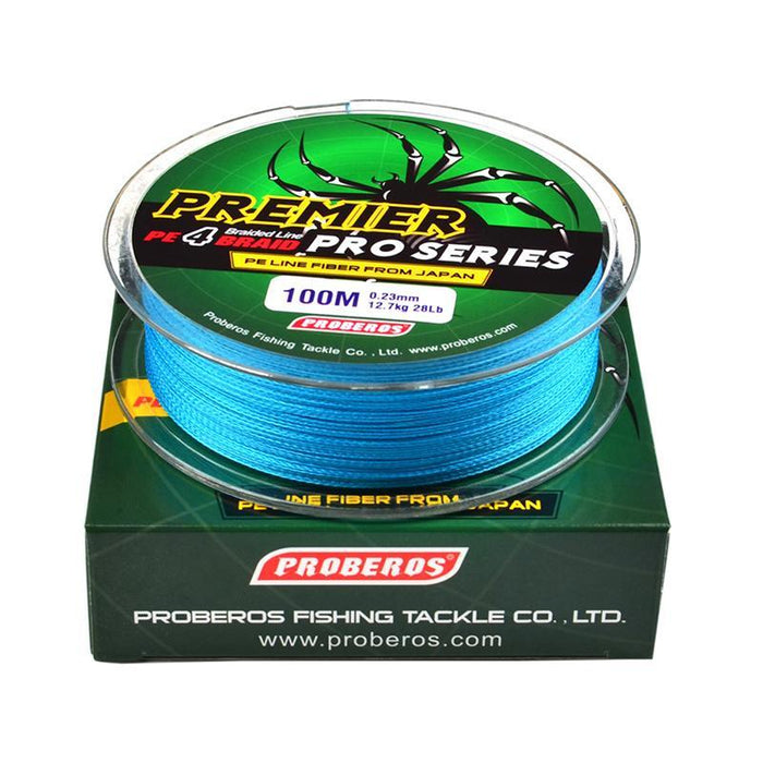 4 Color 100M Fishing Braided Multifilament Fishing Line Available 6Lb-100Lb Pe-Entertainment and movement Shop Store-Yellow-0.8-Bargain Bait Box