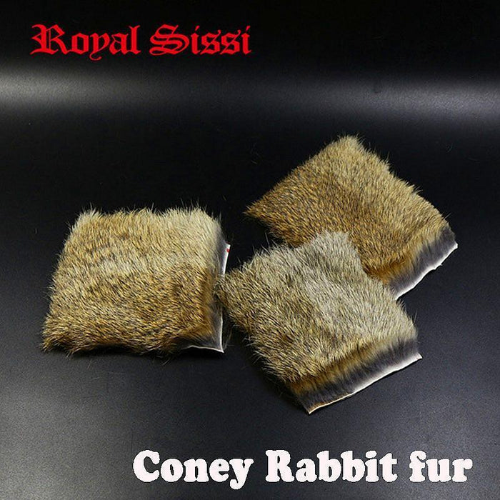 4 Pcs/Pack Natural Coney Genuine Rabbit Fur Animal Pelt Craft Skin Hide Hair Fly-Fly Tying Materials-Bargain Bait Box-Bargain Bait Box