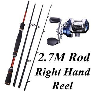 4 Sections Fishing Rod Spinning 2.1M 2.4M 2.7M Carbon Spinning Rod And-Fishing Rod & Reel Combos-Bargain Bait Box-Black-Bargain Bait Box