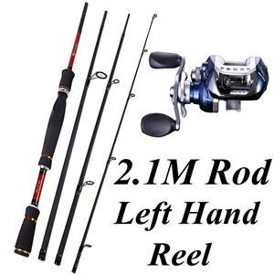 4 Sections Fishing Rod Spinning 2.1M 2.4M 2.7M Carbon Spinning Rod And-Fishing Rod & Reel Combos-Bargain Bait Box-Burgundy-Bargain Bait Box