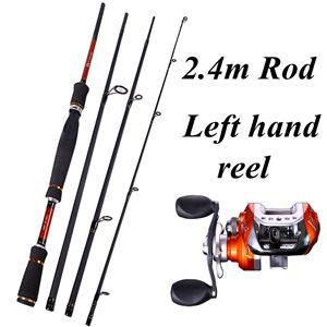 4 Sections Fishing Rod Spinning 2.1M 2.4M 2.7M Carbon Spinning Rod And-Fishing Rod & Reel Combos-Bargain Bait Box-Green-Bargain Bait Box
