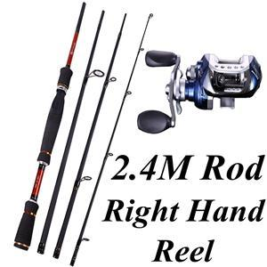 4 Sections Fishing Rod Spinning 2.1M 2.4M 2.7M Carbon Spinning Rod And-Fishing Rod & Reel Combos-Bargain Bait Box-Light Grey-Bargain Bait Box