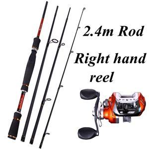 4 Sections Fishing Rod Spinning 2.1M 2.4M 2.7M Carbon Spinning Rod And-Fishing Rod & Reel Combos-Bargain Bait Box-Purple-Bargain Bait Box